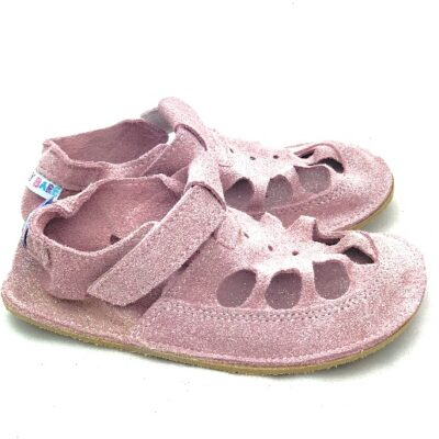 Baby bare shoes summer sparkle pink
