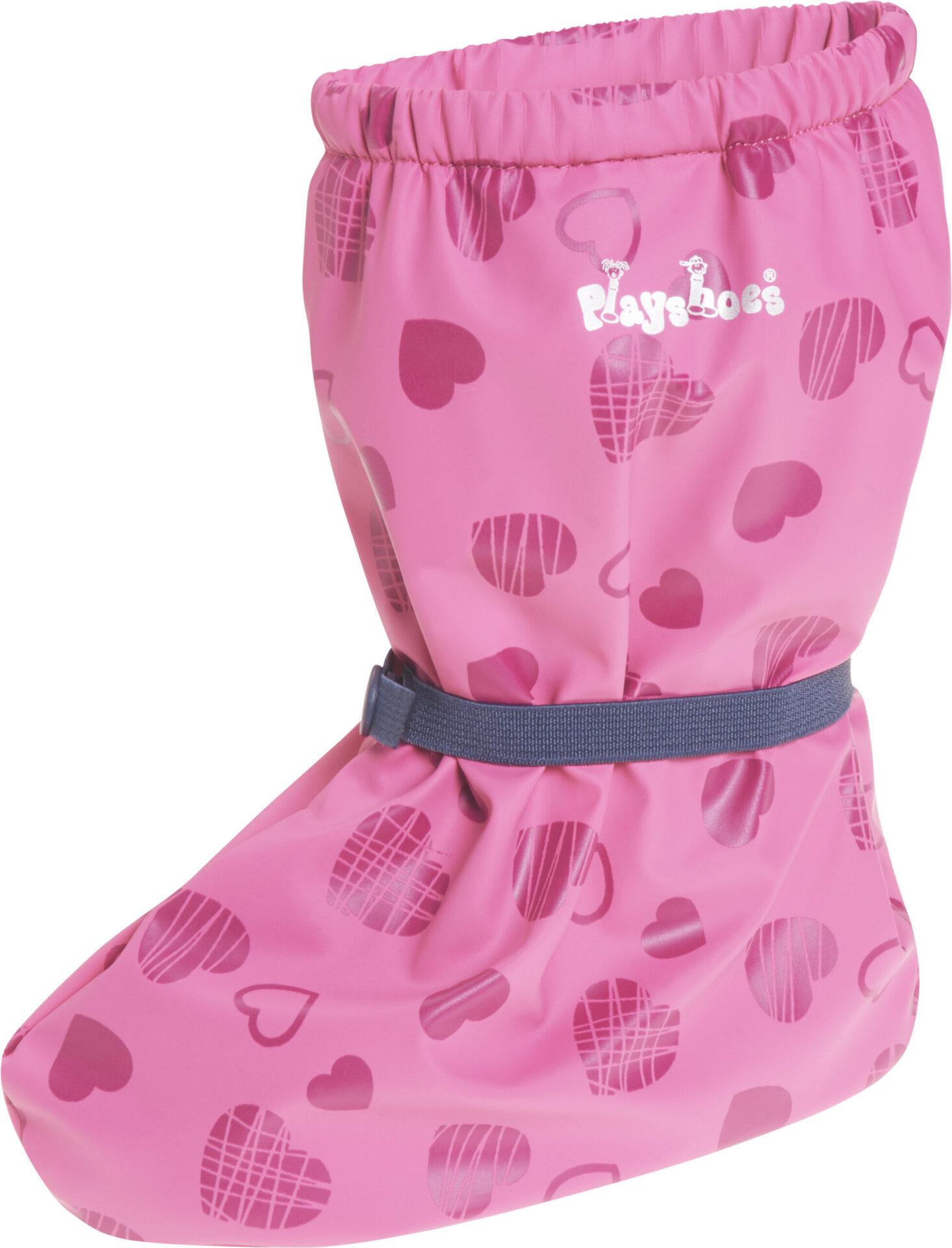 Playshoes veekindlad katted paljajalujalatsitele fliisvoodriga - roosad südamed