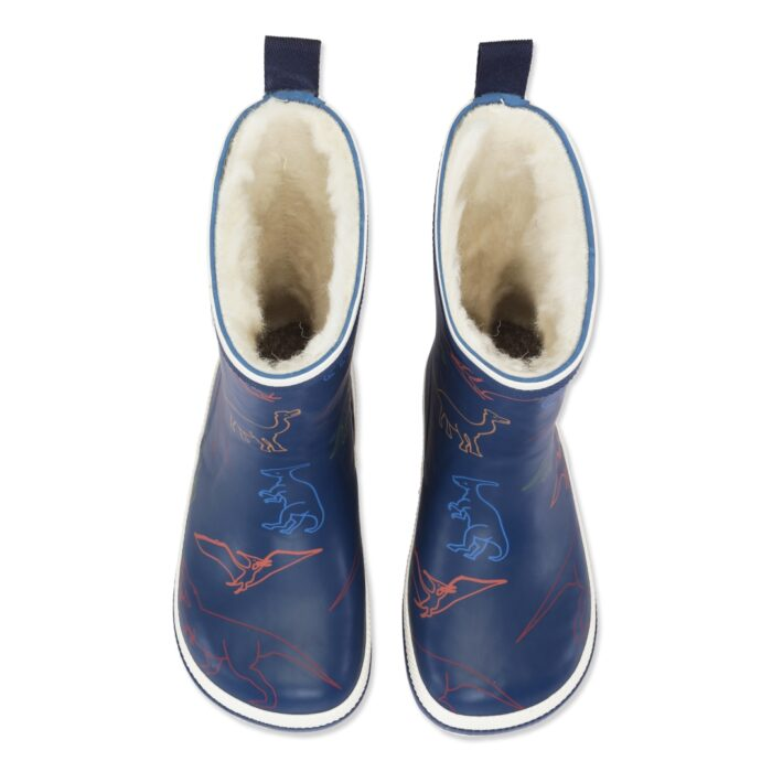 Bundgaard Classic Rubber Boot Winter Dinosaur barefoot